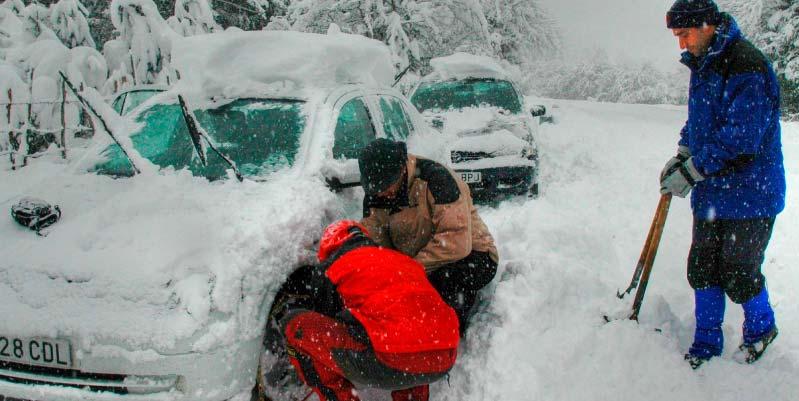 como instalar cadenas para nieve