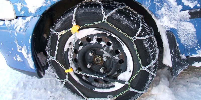 como poner cadenas nieve
